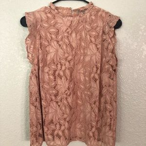 Nude Lace Sleeveless Top